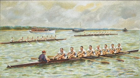 rowing: canoing race