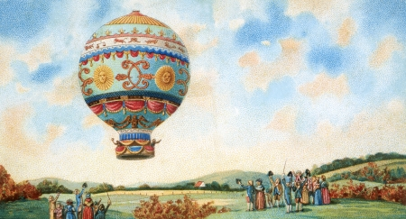 air sport: hot air balloon illustration