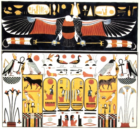 cleopatra: ancient egypt illustration