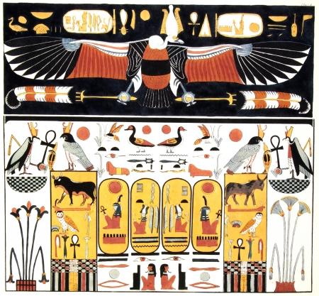 horus: antiguo egipto ilustración