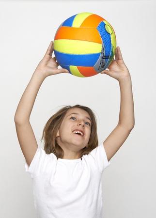 teener: volley child Stock Photo