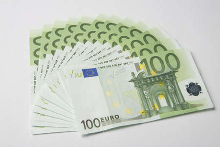 euro banknote: hundred-euro bills, paper money