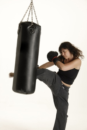 martial: woman doing Martial arts training