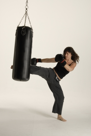 Woman training the Martial arts photo