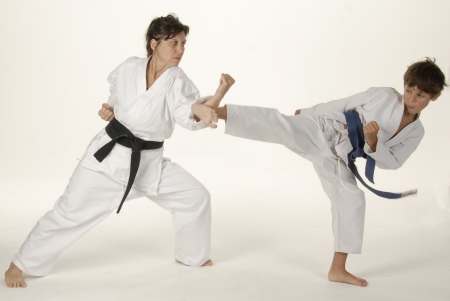 martial: Martial arts training between teacher and student