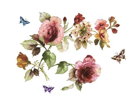 Dessin à la main floral