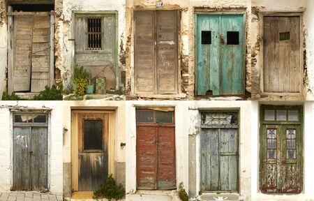 ten doors of greek island photo