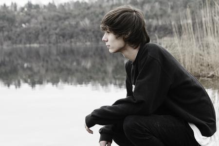 handsome teenage guy: guy
