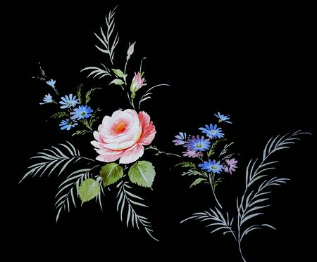 flower painting: floral hand made design