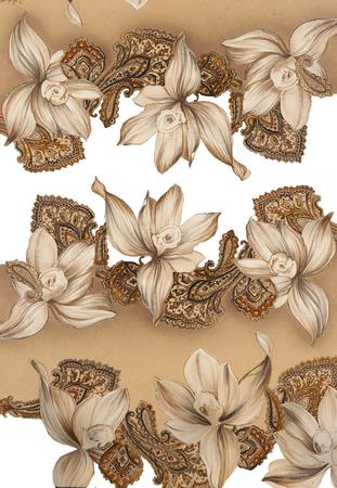 bouquet fleur: sch�ma de main
