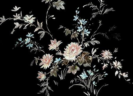 handgemaakte bloemen ontwerp Stockfoto