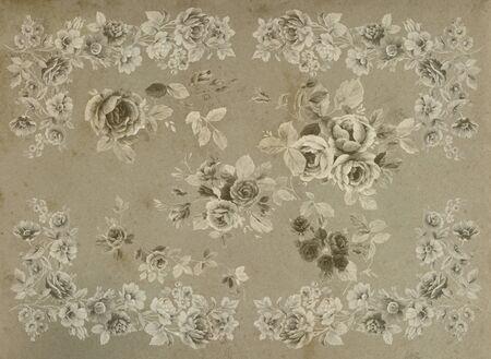 bouquet de fleurs: main floral fait la conception Banque d'images