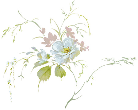 painterly: floral hand made design