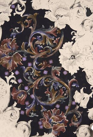 pintura abstracta: floral mano hizo diseño