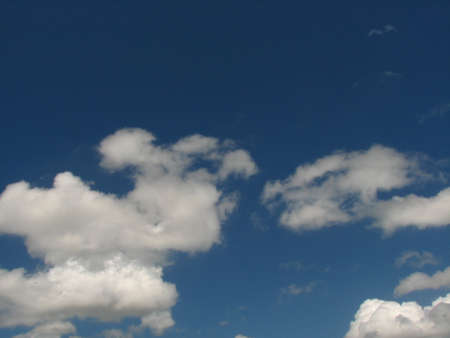 buoyancy: blue sky and white clouds