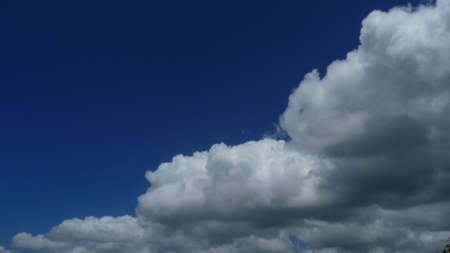 Natural clouds with blue sky background