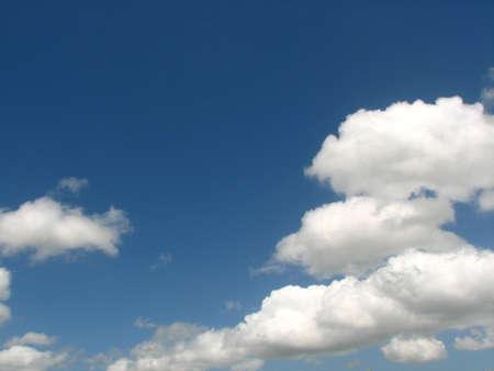 Cumulus in the blue sky