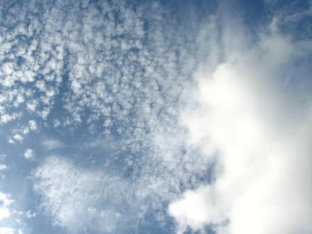 buoyancy: blue sky and clouds