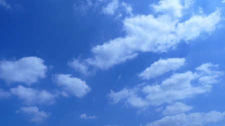 coagulation: blue sky and white clouds