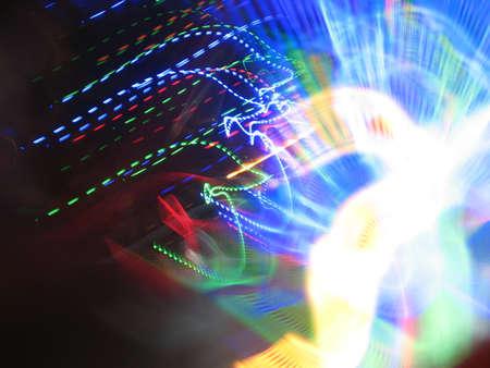 musica electronica: M�sica electr�nica Luz Foto de archivo