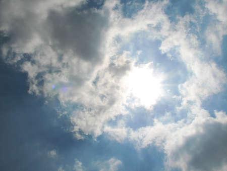 bluesky: sun Stock Photo