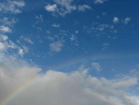 appeared: Sunny rainbow Sunny rainbow appeared in the sky