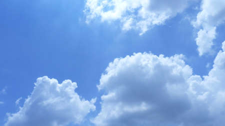 buoyancy: blue sky and cloud Stock Photo