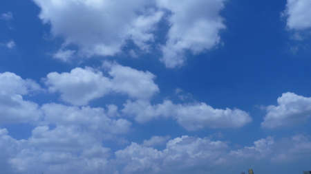 troposphere: cloud and blue sky Stock Photo