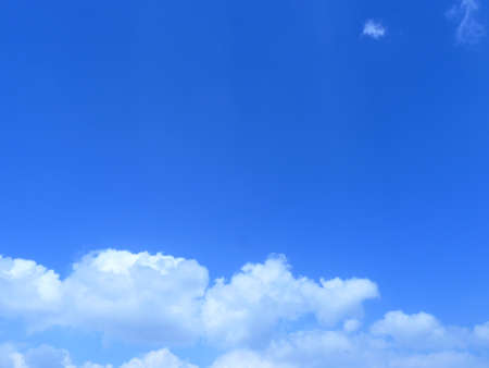 coagulation: blue sky Stock Photo