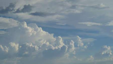 Clouds are water droplets on the aggregate of the atmosphere