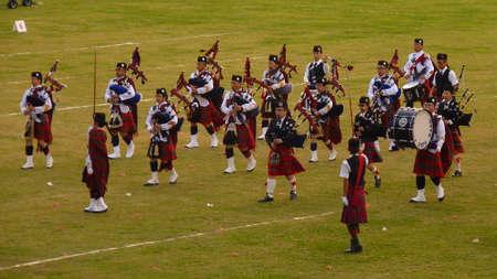 bagpipes: Highland Banda conjunta Hong Kong Pipe