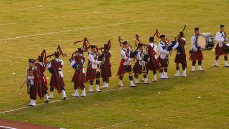 bagpipes: Hong Kong joint Highland Pipe Band