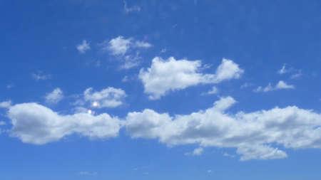 buoyancy: Clouds in the blue sky