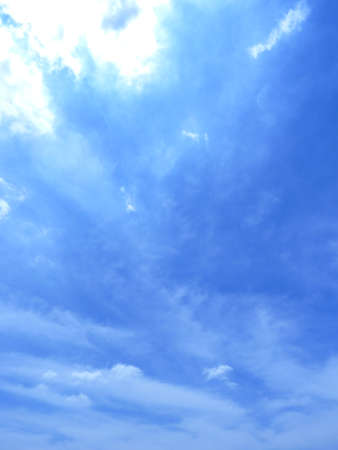 Water vapor condenses into cloud Stock Photo