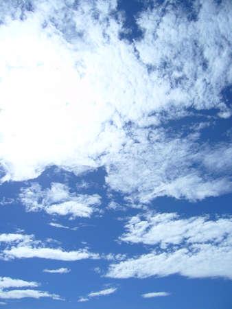 Cumulus clouds in the blue sky