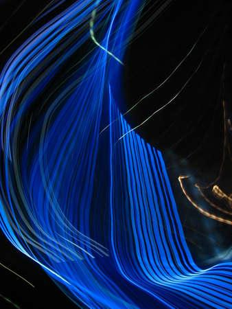 Inkomende elektromagnetische golflicht Stockfoto