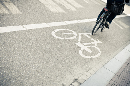Bicycle lane in Amsterdam