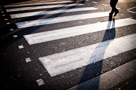 Pedestrian zebra crossing in London photo