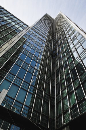 Corporate buildings in Canary Wharf, London