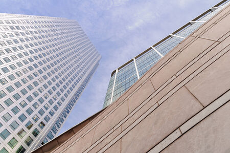 canary wharf: Low angle view of modern buildings in Canary Wharf