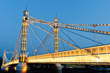 nightime: Albert bridge, Battersea, London