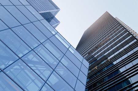 directly below: Corporate buildings in London Stock Photo