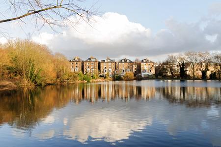 Hampsetad Heath park in London 免版税图像