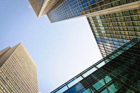 glass building: Corporate buildings in London Stock Photo