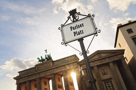 Pariser Platz sign in Berlin