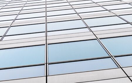 Details of windows of a modern building.