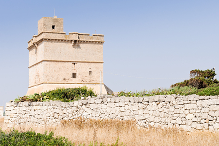 Typical defensive tower in Apulia