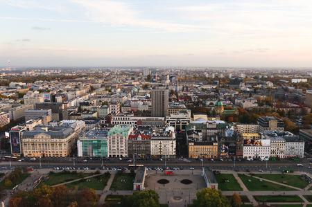 Panoramic view of Warsawa, Poland