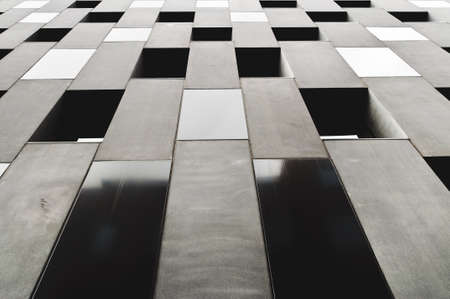 Abstract geometric wall of modern building