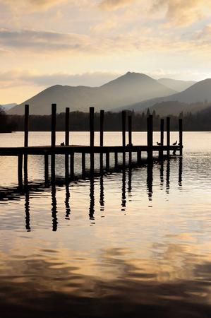 Landsape in Lake Disitrict, Cumbria Фото со стока